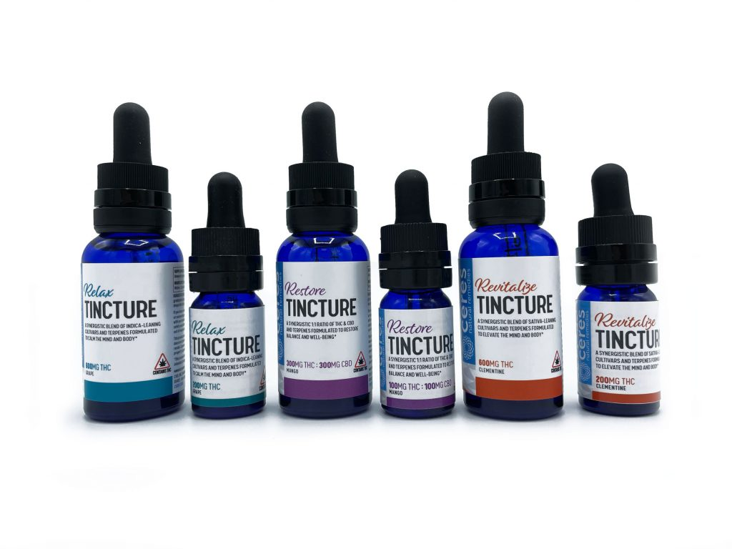 The Relax, Restore, and Revitalize Tinctures